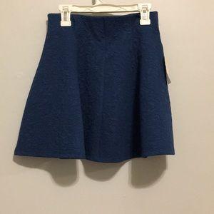 Blue skater skirt